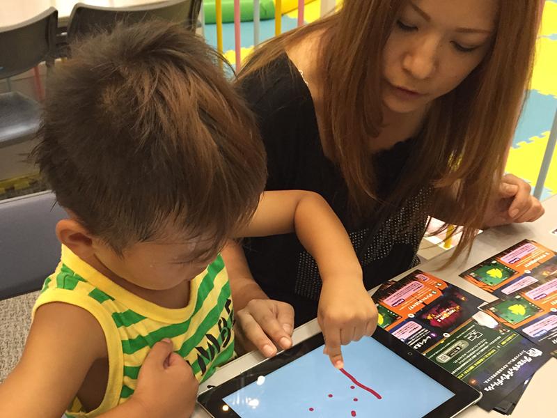 iPadを使ったデジタルお絵かき体験 inイオンモール木曽川
